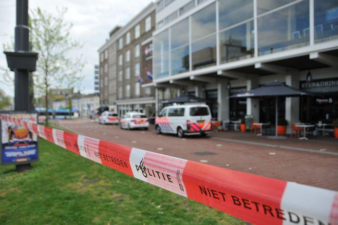 De omgeving van Hotel Haarhuis in Arnhem kort na de overval in april vorig jaar.