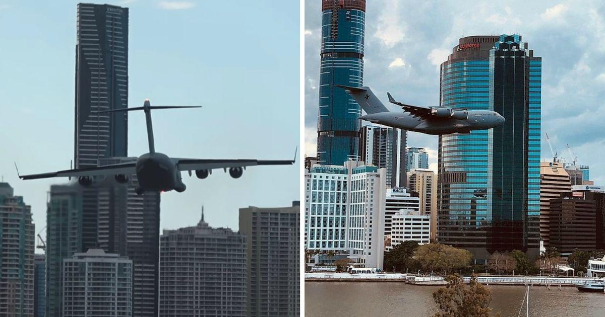 Spectaculaire beelden: Boeing vliegt recht op wolkenkrabber af