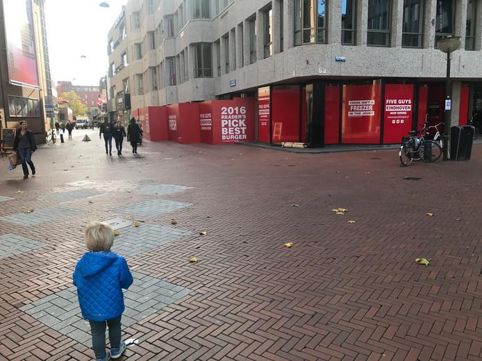 De toekomstige locatie van restaurant Five Guys in Eindhoven.