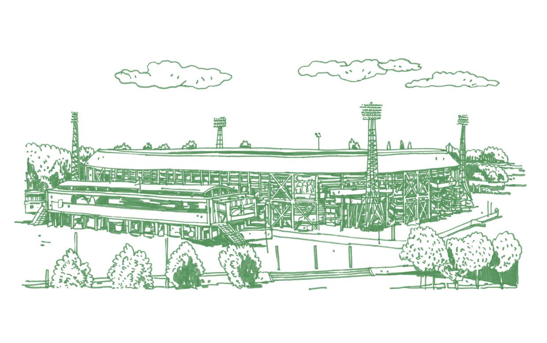 Stadion De Kuip in Rotterdam. Beeld Joost Stokhof