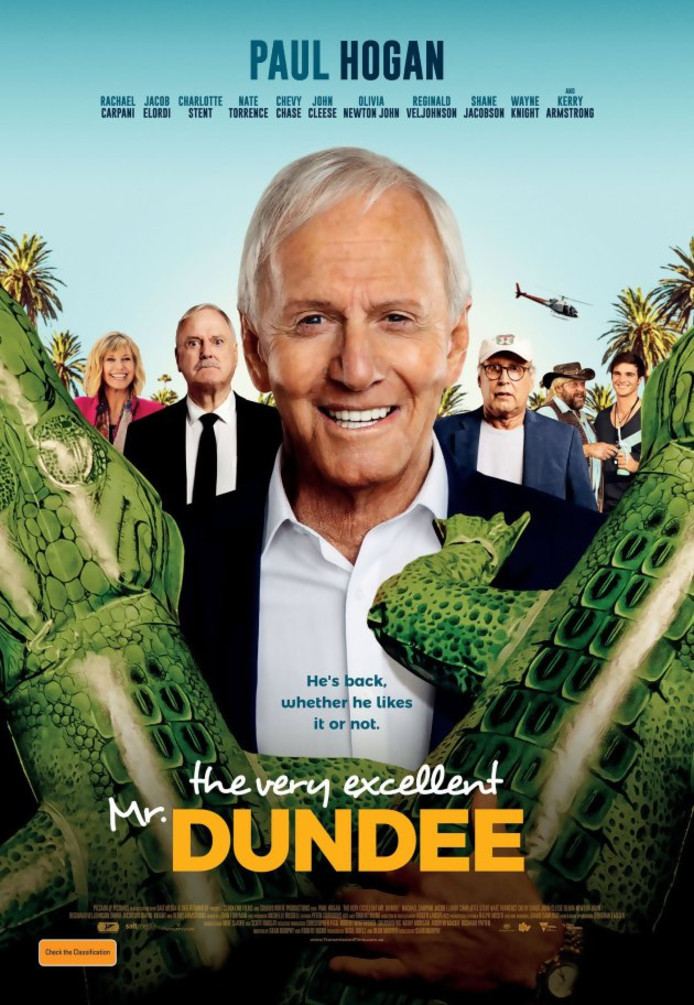 "L'affiche de ""The Very Excellent Mr Dundee""."