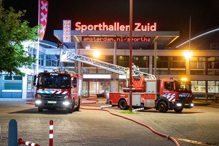 Brand in Sporthallen Zuid snel onder controle