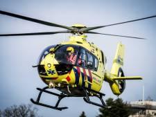 Ongeval bij Ebbingebrug in Groningen, traumahelikopter aanwezig