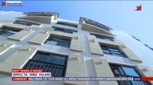 Het appartementencomplex waar de omgekomen 24-jarige verbleef.