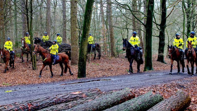Politie te paard zocht in 2015 naar een vermiste man Beeld anp