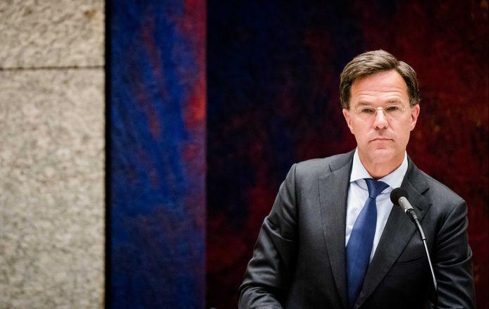 Premier Mark Rutte tijdens het debat gisteravond.