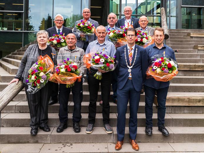 Maar liefst negen koninklijke onderscheidingen werden er uitgereikt in Berkelland.