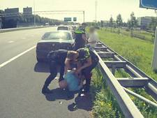 Barendrechters op A29 aangehouden na verkeersruzie
