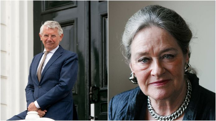 De voormalige burgemeesters van Overbetuwe Toon van Asseldonk en Elisabeth Tuijnman op archiefbeeld.