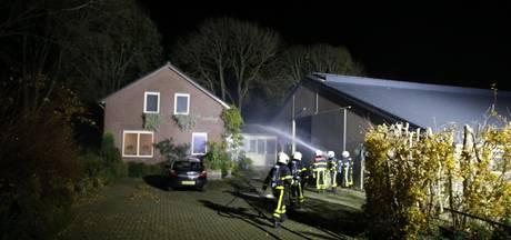 Brandweer rukt massaal uit voor woningbrand naast koeienstal in Raamsdonk
