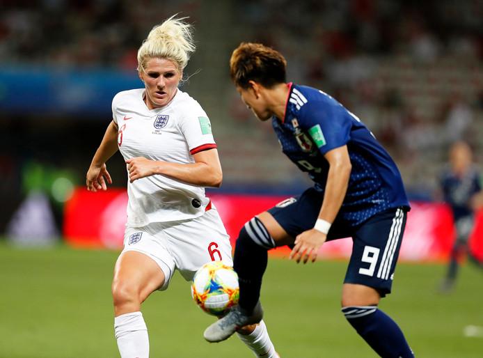 Beelden uit de wedstrijd tussen Engeland - Japan