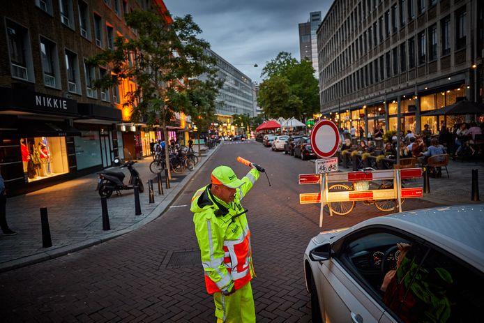 Een deel van de Meent was vrijdag en zaterdag in de avond en nacht afgesloten voor auto's