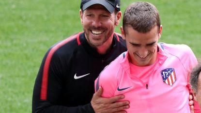 """Simeone hoopt op verlengd verblijf van Griezmann: """"Sportief zijn we niet zo ver verwijderd van teams die dieper in buidel kunnen tasten"""""""