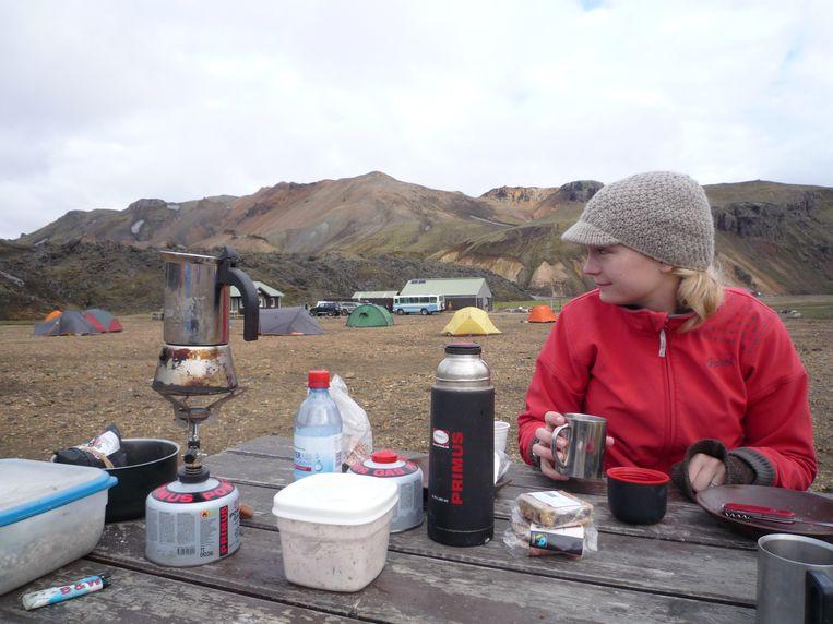 Kamperen in IJsland Beeld