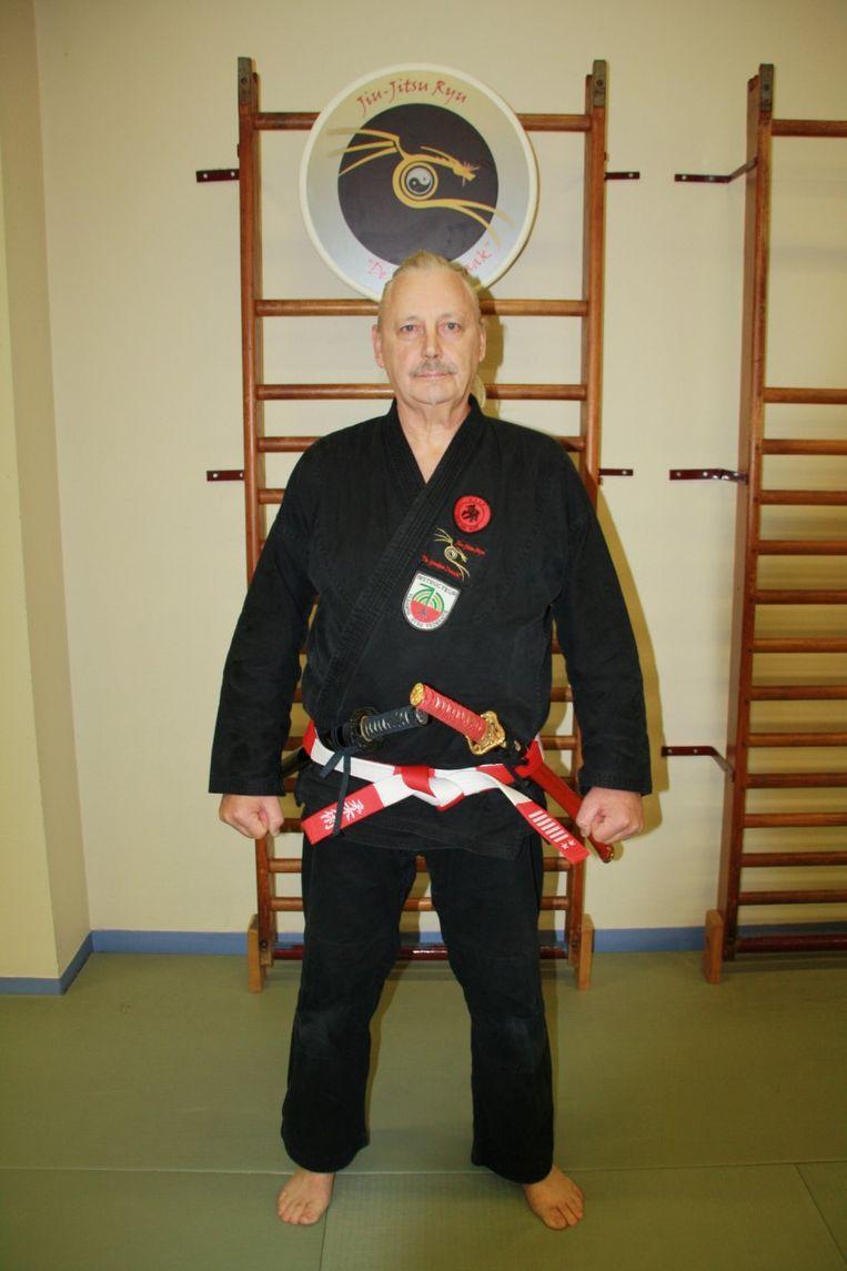Marc Vleugels heeft sinds kort de graad zevende dan in het jiu jitsu.