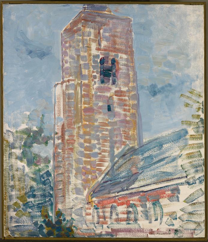 Kerk te Oostkapelle, Piet Mondriaan 1908-1909.