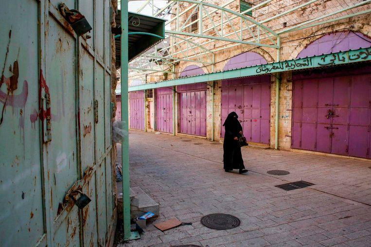 Een Palestijnse vrouw in Hebron.