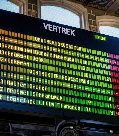 Treinverkeer onderbroken tussen Gent-Sint-Pieters en Zottegem