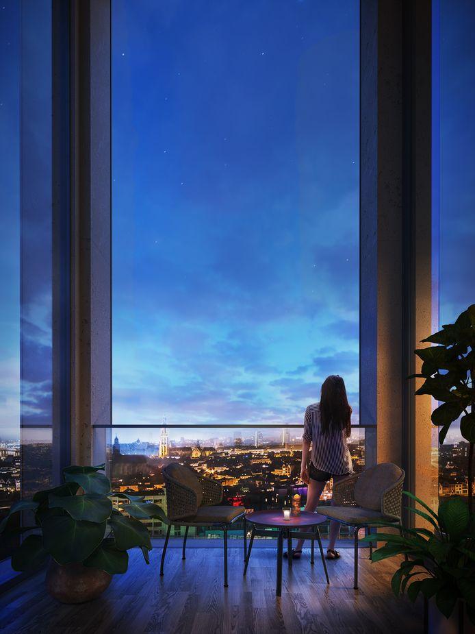 Scheldehof in de wijk Nieuw Zuid biedt een panoramisch uitzicht op de stad.