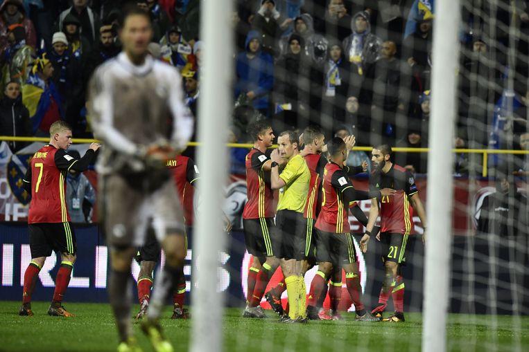 Belgisch feestje na de 3-4 van Carrasco.