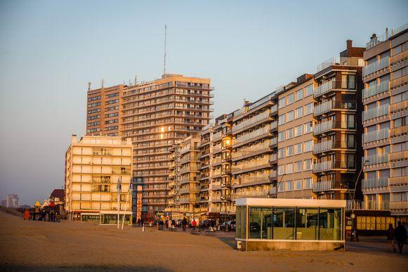 Nog geen strandcabines op het strand van Oostduinkerke.