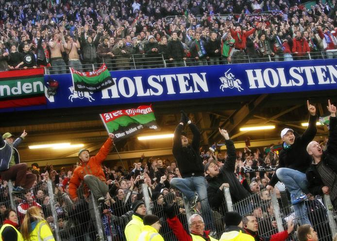 NEC in betere tijden: hier in februari 2009 tijdens de uitwedstrijd tegen HSV in Hamburg (ter illustratie).