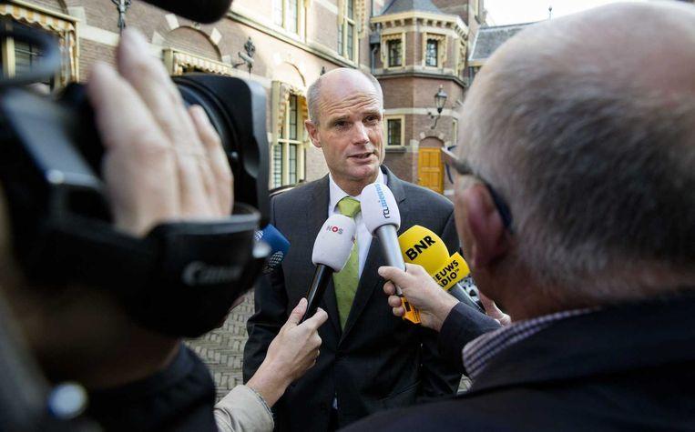 Minister Blok, op het Binnenhof. Beeld null