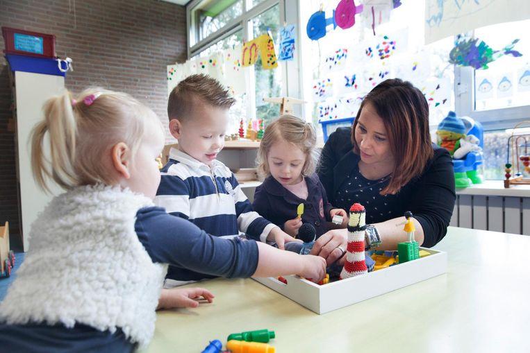 Kinderen op de voorschoolse opvang in Schoonebeek Beeld Aurélie Geurts