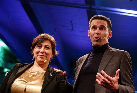 Groen-voorzitter Meyrem Almaci en Ecolo-co-voorzitter Jean-Marc Nollet.