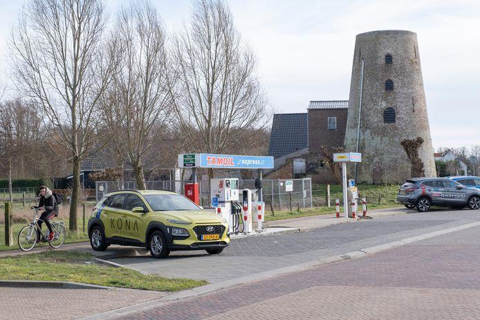 Molen De Hoop aan de Noordweg in Sint Laurens.
