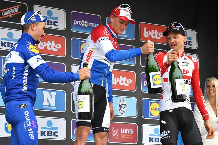 Alaphilippe, Van der Poel en Tim Wellens.