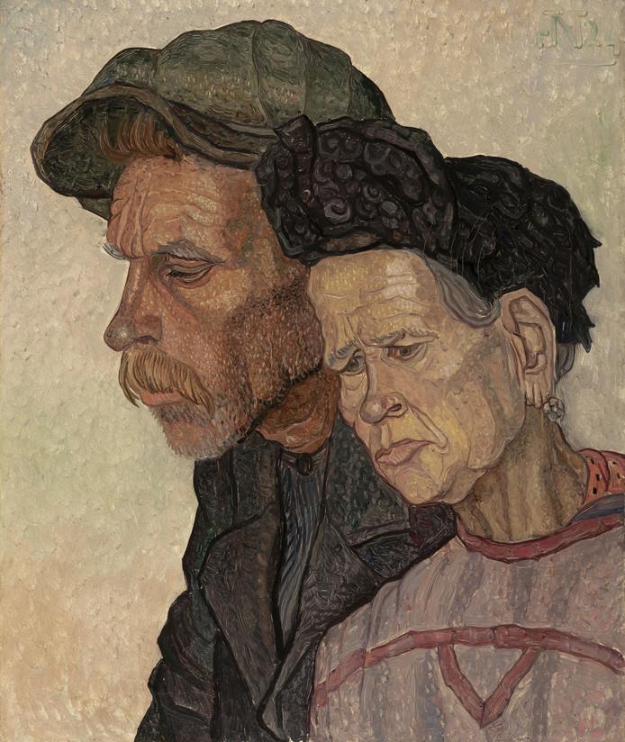 Jakob Nieweg (1877 – 1955), Ouder Paar, olieverf op doek 1924.