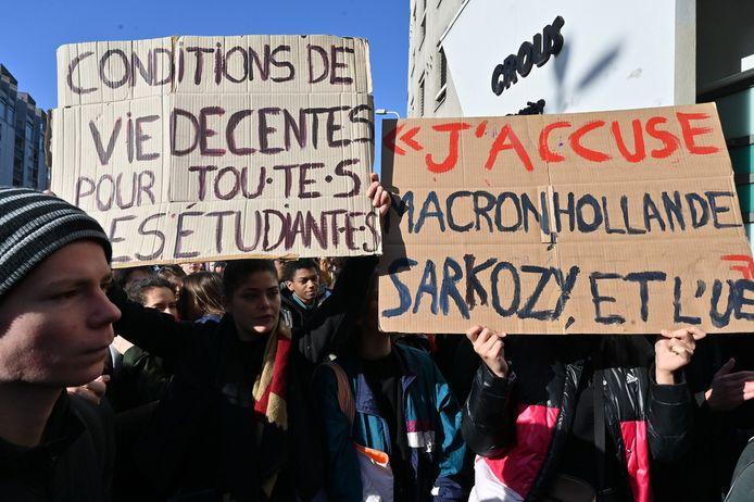 Une manifestation à Lyon en soutien à Anas.K