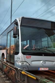 Historisch: RET-bussen per trein over de Brennerpas