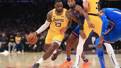 Opnieuw een record voor 'King' James, Carmelo Anthony verliest bij debuut met Portland