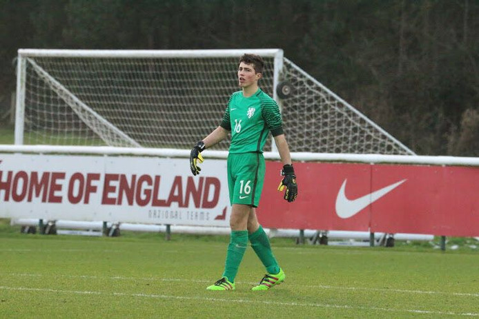 Aron van Lare, keeper van PSV en Oranje onder 16.