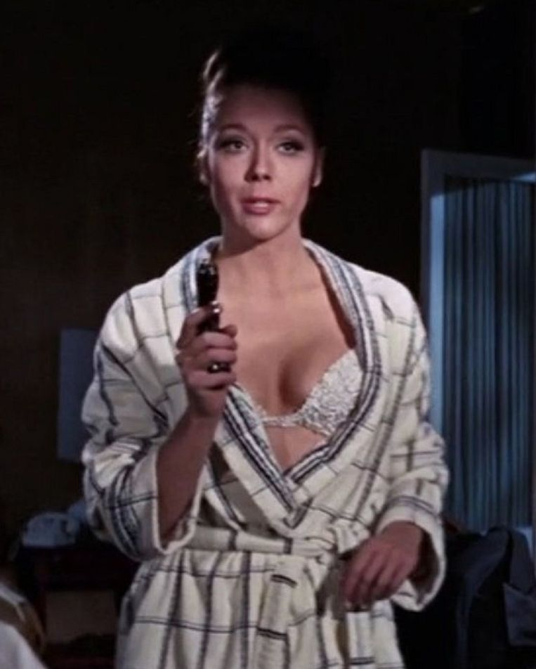 Diana Rigg als Teresa di Vicenzo in On her majesty's secret service (1969) Beeld ANP