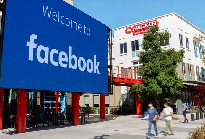 Het hoofdkwartier van Facebook in Menlo Park, California.