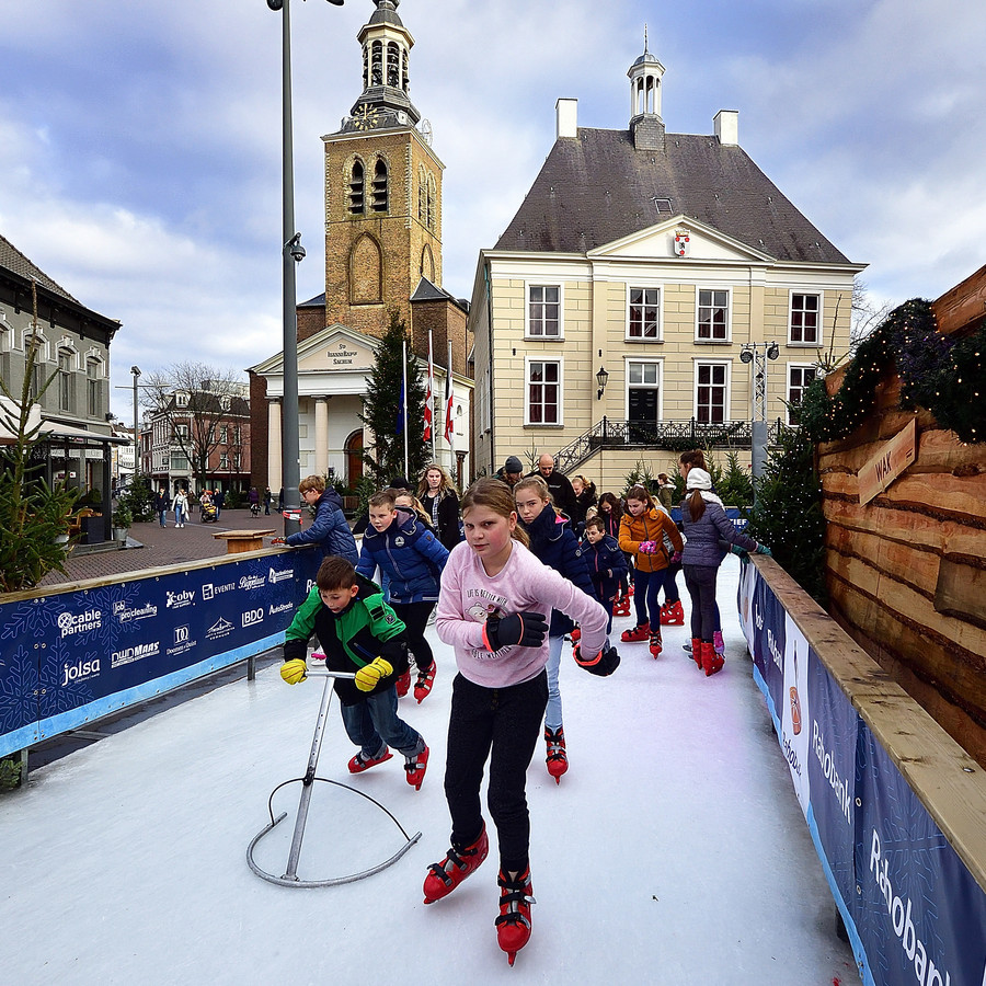 De ijsbaan in Roosendaal de afgelopen keer.