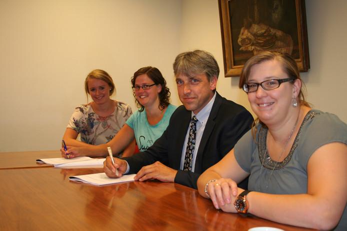 Wethouder Groothuis en CPO-vereniging Ten Pesel ondertekenen de overeenkomst.