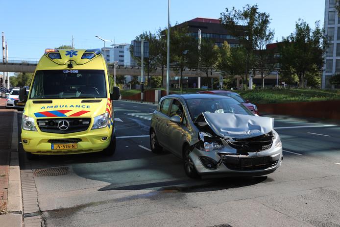 Ongeluk op Schenkkade in Den Haag.