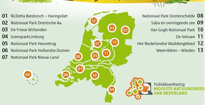 Verkiezing 'mooiste natuurgebied van Nederland'.