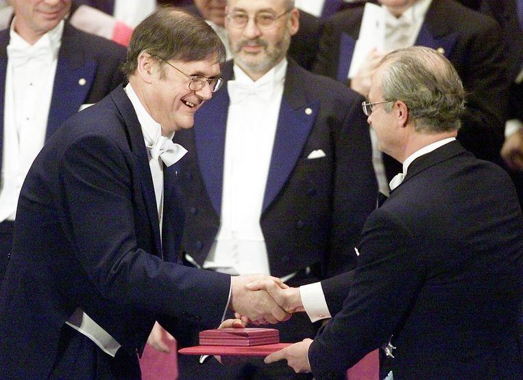 Tim Hunt (links). Beeld afp