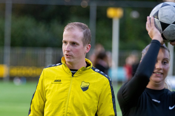 Michaël Jongman kon met DOS Kampen de eerste zege van het veldseizoen vieren.