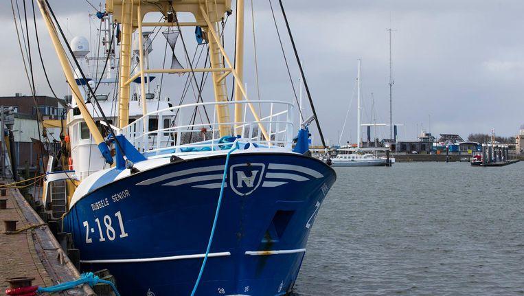 De kotter die in 2017 onderschept werd in de haven van Harlingen, met aan boord 261 kilo cocaïne. Beeld anp