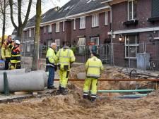 Reparatie van gaslek in centrum Oisterwijk kan nog enkele uren duren omdat er zand op het gat is gegooid