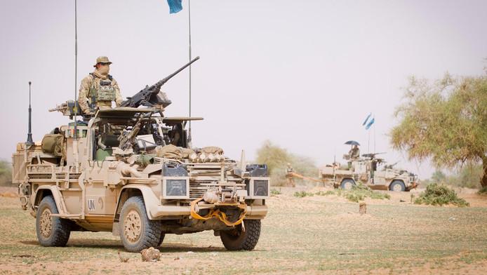 Nederlandse commando's van het Korps Commando Troepen tijdens een patrouille in Mali.