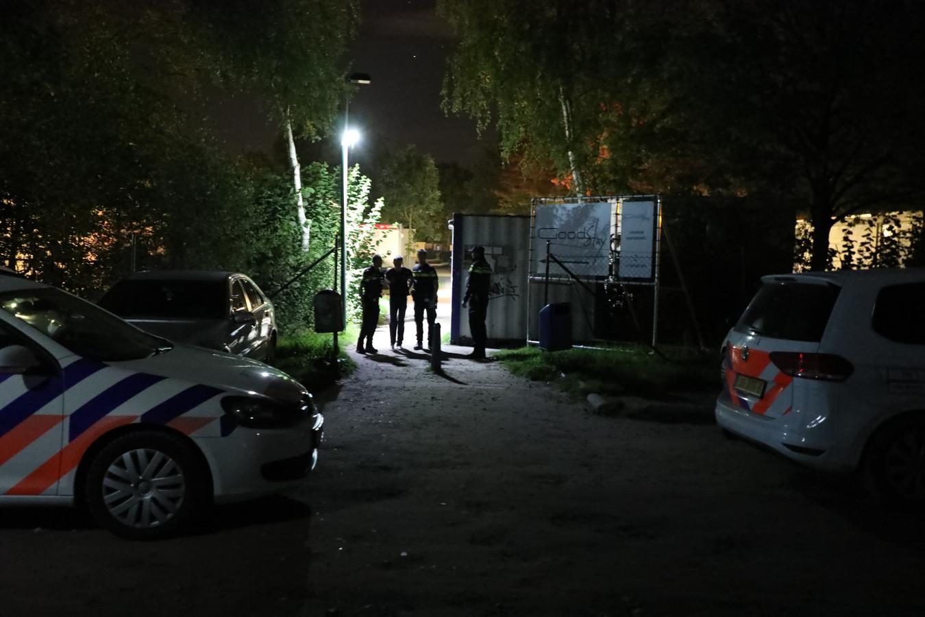 De politie was met vijf auto's ter plekke.
