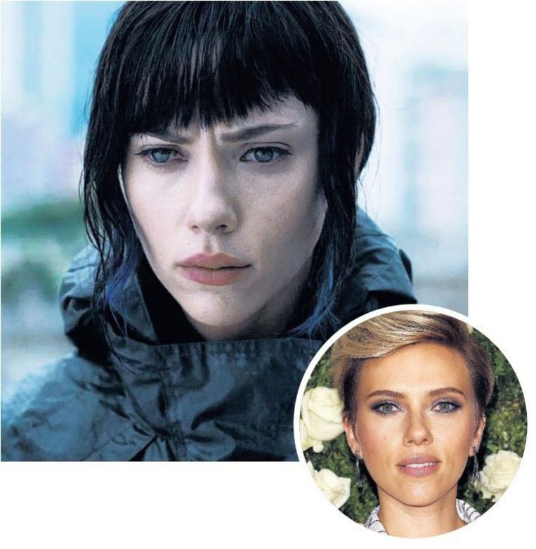 Scarlett Johansson als Japanse cultheldin in Ghost in the shell (2017). Beeld Getty Images