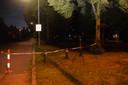 Het park is door de politie afgesloten